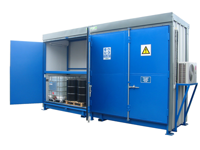 Illustrated in the photo is one of our Temperature Controlled Stores