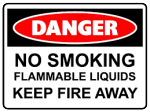 Danger flammable liquids risk